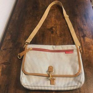 Skip Hop Gray & White French Striped Bag
